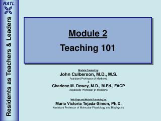 Module 2 Teaching 101