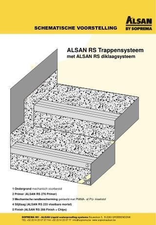 1 Ondergrond  mechanisch voorbereid 2 Primer  ( ALSAN RS 276 Primer)