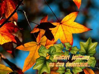 Koncert   jesienny  na  dwa  świerszcze...