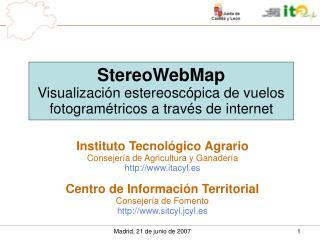 StereoWebMap Visualización estereoscópica de vuelos fotogramétricos a través de internet