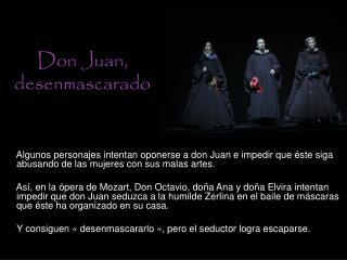 Don Juan, desenmascarado