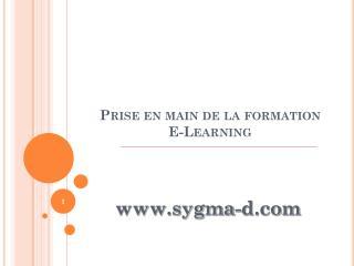 Prise en main de la formation  E-Learning