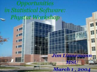 Opportunities  in Statistical Software: Phystat Workshop