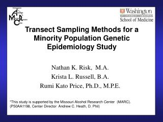 Transect Sampling Methods for a Minority Population Genetic Epidemiology Study