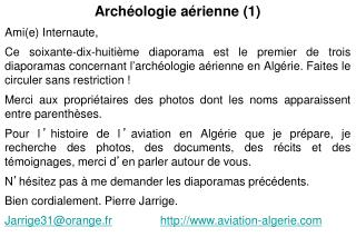 Archéologie aérienne (1) Ami(e) Internaute,