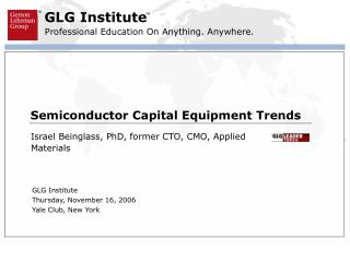 Semiconductor Capital Equipment Trends