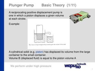 Plunger PumpBasic Theory  (1/11)