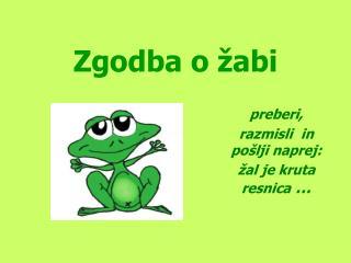 Zgodba o žabi