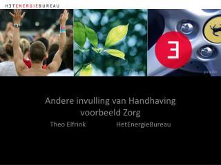 Kansen voor Energiebesparing in de zorg Theo Elfrink            19 mei 2011