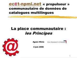 ec t-npmi «propulseur» communautaire de données de catalogues multilingues