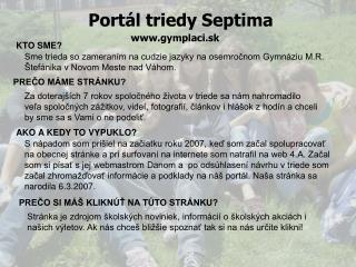 Portál triedy Septima