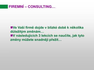 FIREMN Í  – CONSULTING…