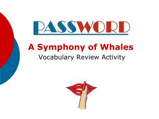 A Symphony of Whales  Vocabulary Review Activity