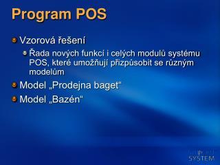 Program POS
