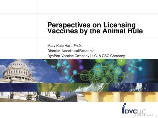 Perspectives on Licensing Vaccines by the Animal Rule