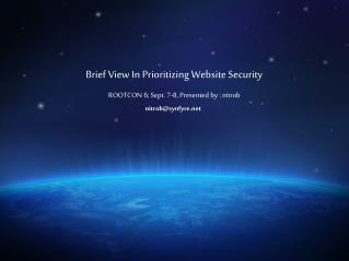 Brief View In Prioritizing Website Security