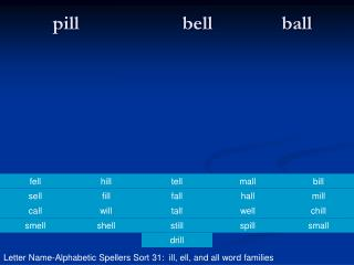 pill                     bell              ball