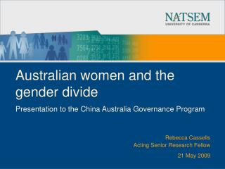 Australian women and the gender divide