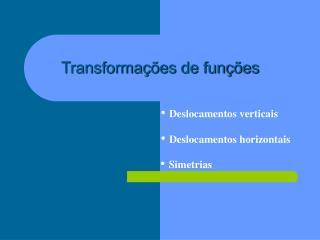 Transformações de funções