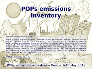 POPs emissions inventory