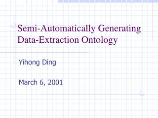 Semi-Automatically Generating Data-Extraction Ontology