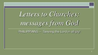 Letters to Churches: messages from God