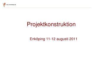 Projektkonstruktion    Enköping 11-12 augusti 2011