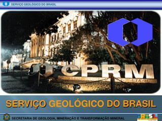 SERVI�O  GEOL�GICO  DO BRASIL
