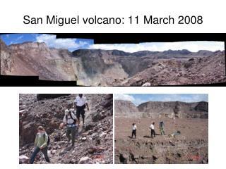 San Miguel volcano: 11 March 2008