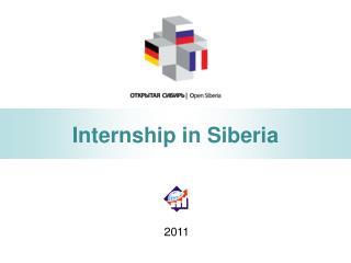 Internship in Siberia