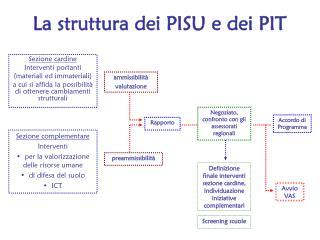 La struttura dei PISU e dei PIT
