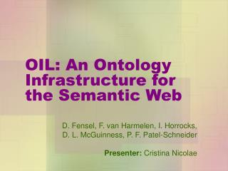 OIL: An Ontology Infrastructure for the Semantic Web