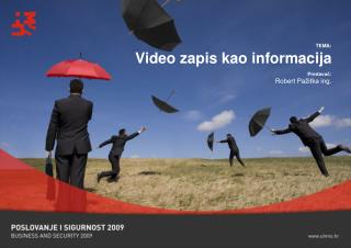 TEMA: Video zapis kao informacija