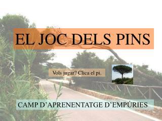 EL JOC DELS PINS