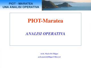 PIOT-Maratea ANALISI OPERATIVA