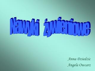 Anna Dziedzic  Angela Owcarz