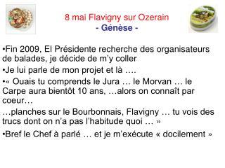 8 mai Flavigny sur Ozerain      - Génèse -