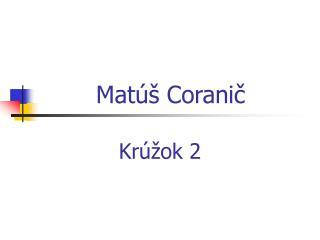 Matúš Coranič