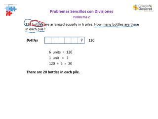 Problemas Sencillos  con  Divisiones Problema 2