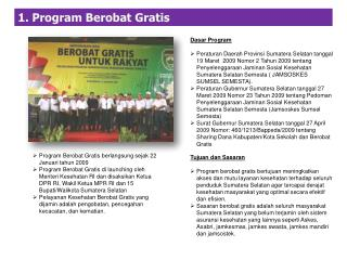 1. Program  Berobat  Gratis