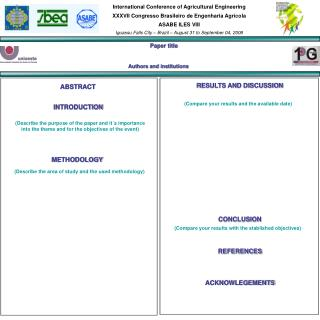 International Conference of Agricultural Engineering