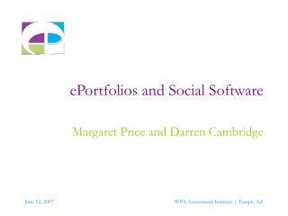 EPortfolios and Social Software