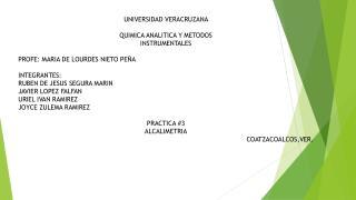 UNIVERSIDAD VERACRUZANA  QUIMICA ANALITICA Y METODOS INSTRUMENTALES