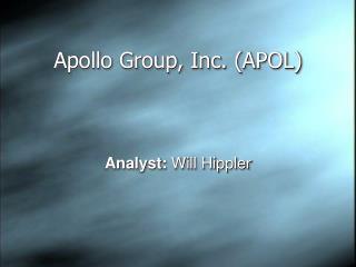 Apollo Group, Inc. APOL