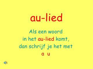 au-lied
