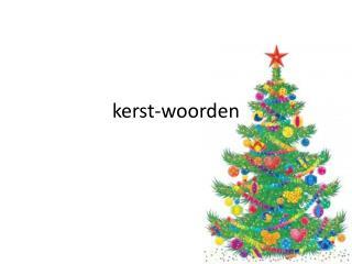 kerst-woorden