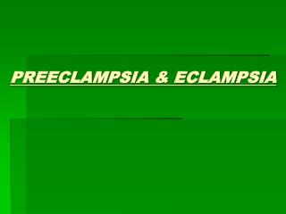 Literature review in preeclampsia