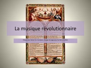 La musique révolutionnaire