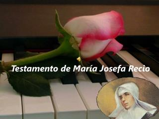 Testamento de María Josefa Recio
