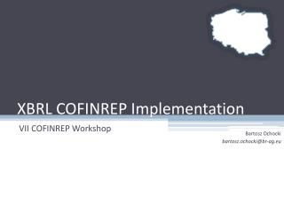 XBRL COFINREP Implementation